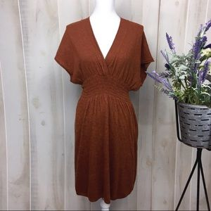 Sparrow Fall Foliage Burnt Orange Sweater Dress